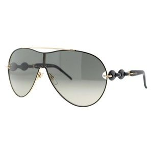 Gucci Black Gg 4203/S Oversized Shield Wired